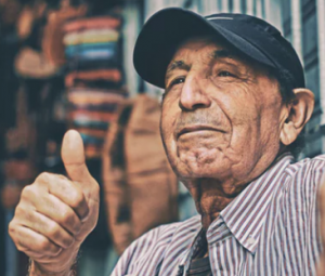 "companies with multiple ""thumbs up"" approvals such as the one expressed by this old guy are less likely to be fraudulent"