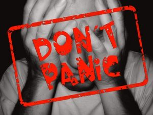 ''Don't panic'' in writing - moving anxiety.