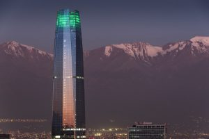 A tall building in Santiago