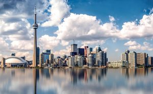 Panorama of Toronto - a great place for starting a business abroad.