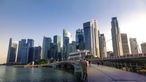 Singapore riverside - ideal for businesses and companies.