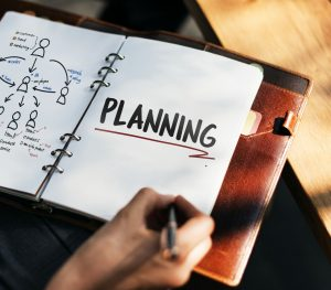 notebook that says planning