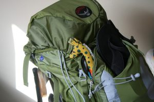 Backpack with essential utilities for last-minute relocation