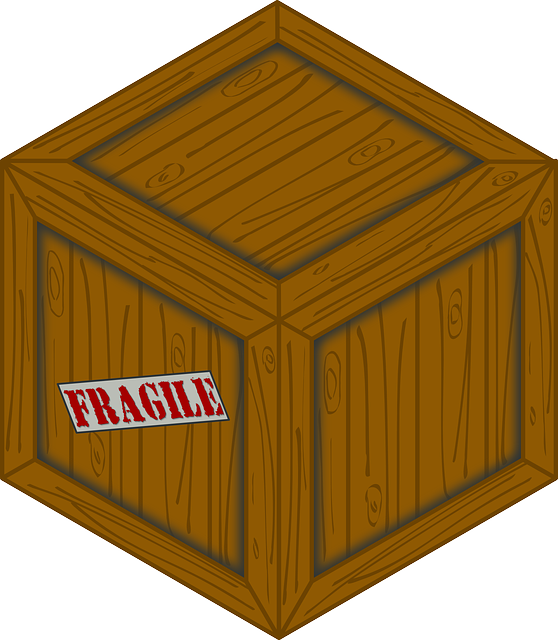 Fragile sign on the box