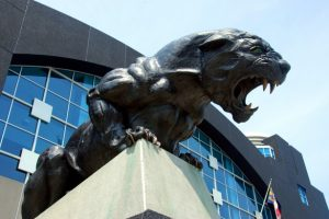 Panthers stadium statue