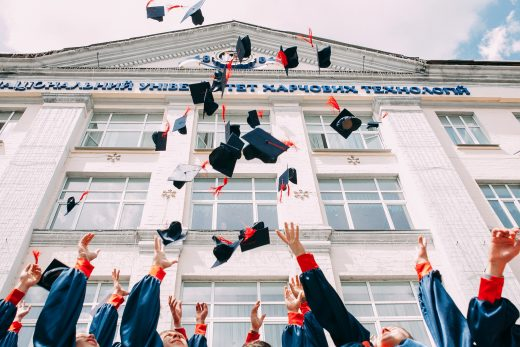 graduating ceremony for senior students