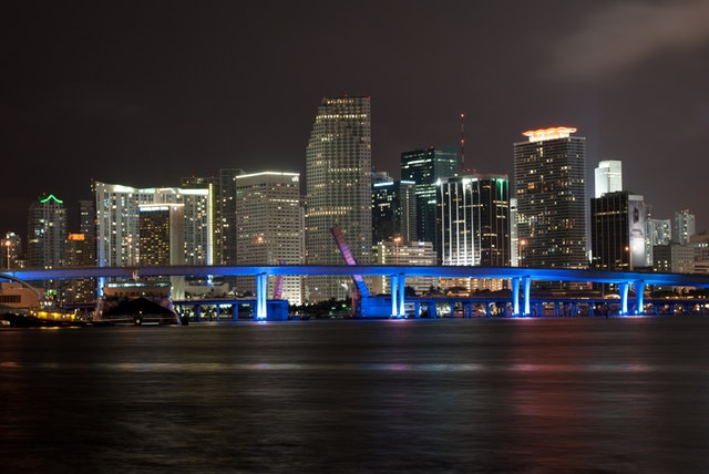 This wonderful night view is one of the reasons for moving to Miami Dade County