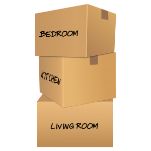 A picture of labeled boxes