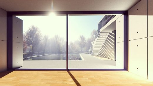 Crystal clear windows after clearing your home before moving out.