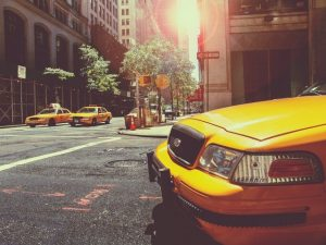 Taxi on the streets of NYC