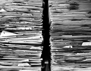 a pile of paperwork