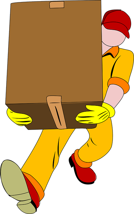 A cartoon drawing of a professional moving specialty items with ease.