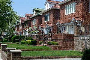 Houses in a neighborhood.