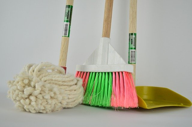 Cleaning equipment to clean your home before you move.