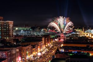 Fireworks in Nashville, Tennessee.