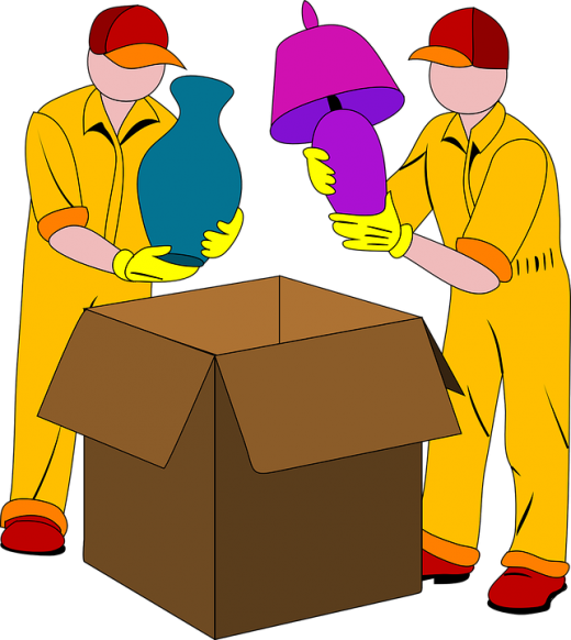 An illustration of professional movers and packers.