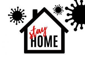 Stay home sign.