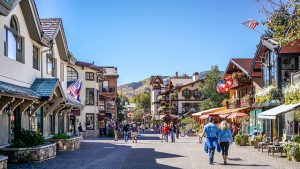 Street in Vail, CO.