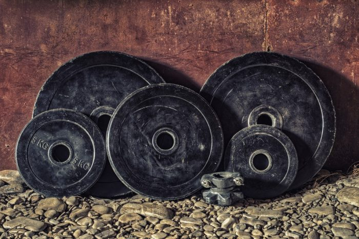 When moving gym equipment, the weights are one of them