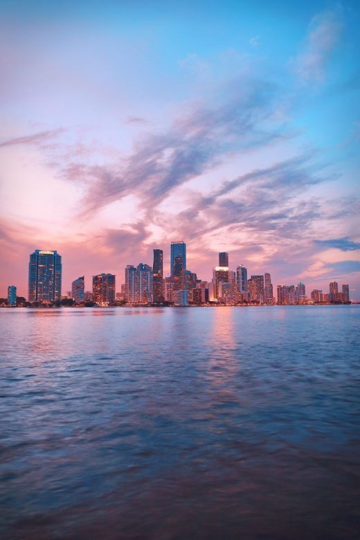 Skyline of Miami.