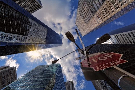 Bottom perspective view of the NYC