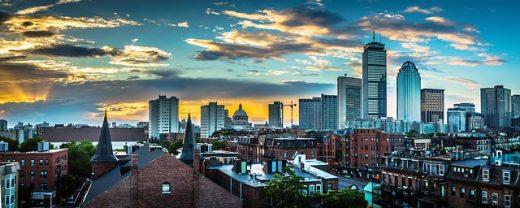 A view of a Boston, MA