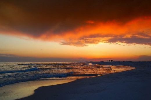 A sunset at a beach in Florida.