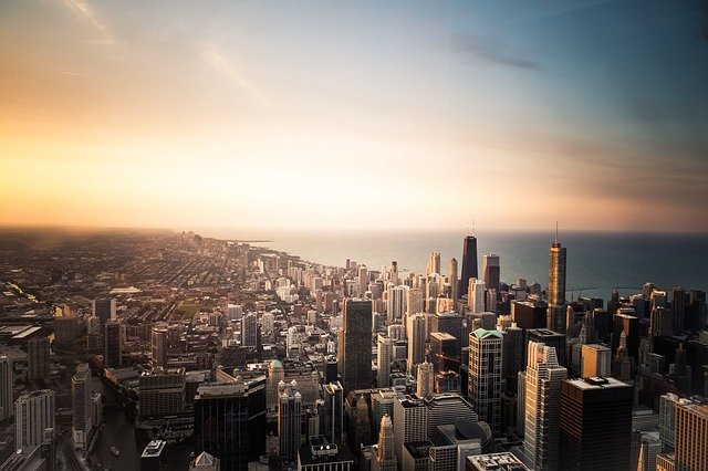 Chicago in the United States.