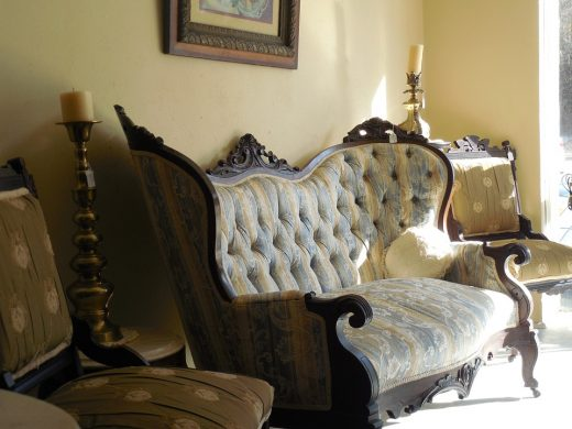 An antique couch.