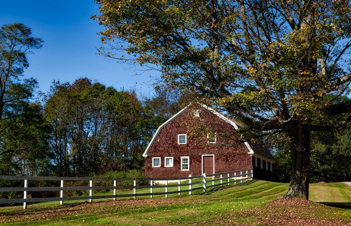 A barn in one of the best rural places to live in Connecticut