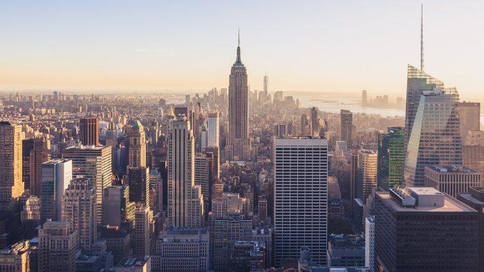 A view of Manhattan.
