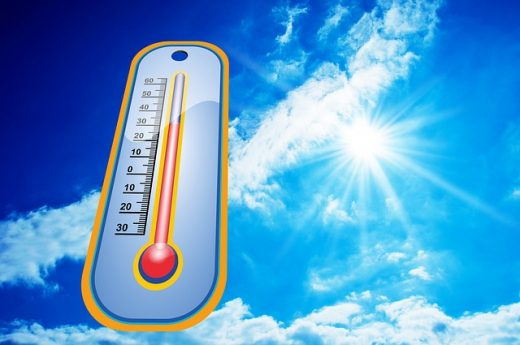 Thermometer and the scorching sun