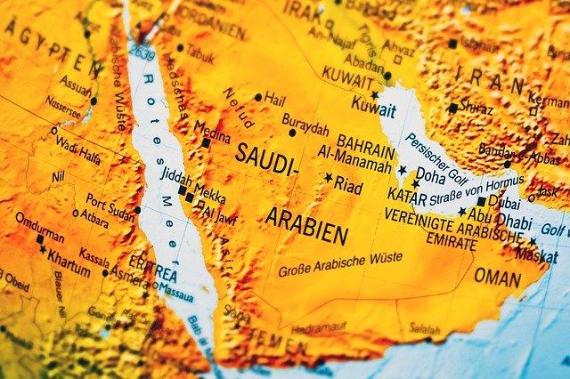 A map of KSA.