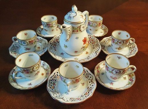 Move a china cabinet with chinaware in it.