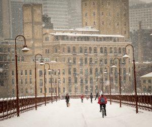 Minneapolis Snow Bridge