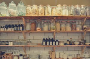 Organizing your new kitchen with pantry.