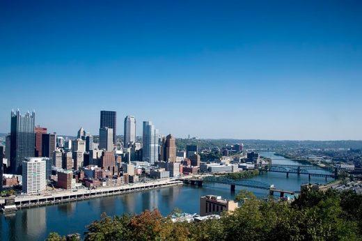 A city view.
