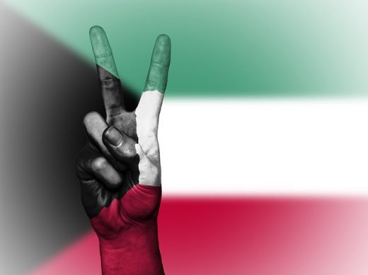 Kuwait Flag Peace Hand - Finding the perfect size home in Kuwait