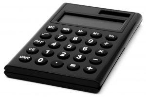 A black calculator.