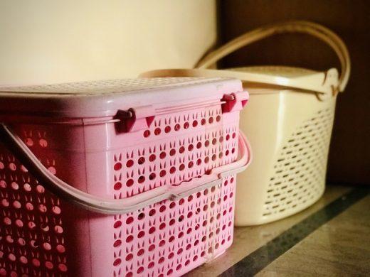 Plastic baskets.