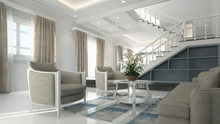 The interior of a living room after staging your Sugar Land home for virtual tours