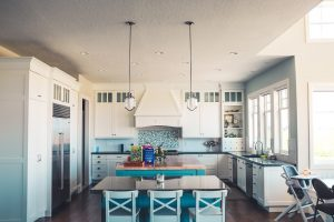 A kitchen after staging your Sugar Land home for virtual tours.