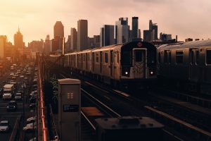 Train on its way to New York City
