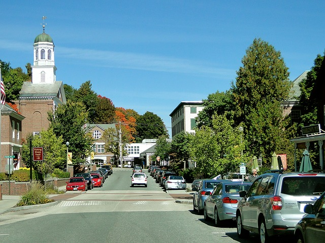 A street in Merrimack, New Hampshire.