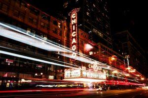 Chicago, street, night.
