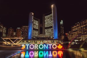 View of Toronto at night